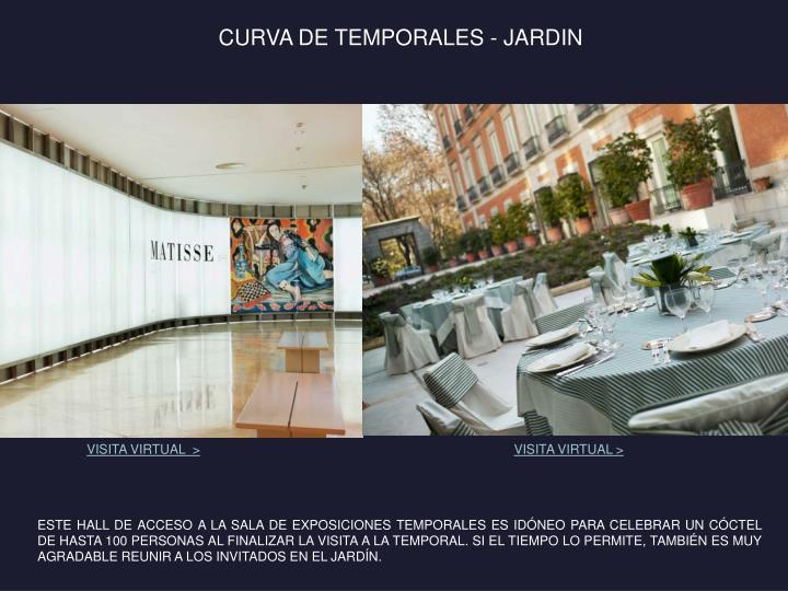 CURVA DE TEMPORALES - JARDIN