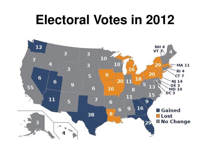 Electoral Votes in 2012