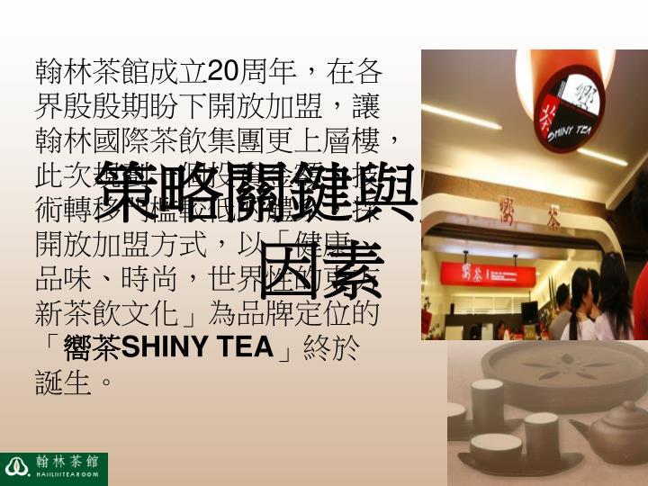 翰林茶館成立