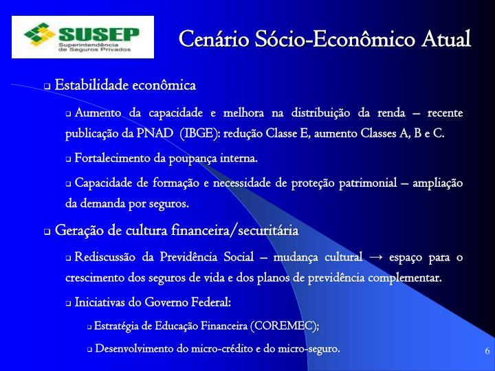 Cenário Sócio-Econômico Atual