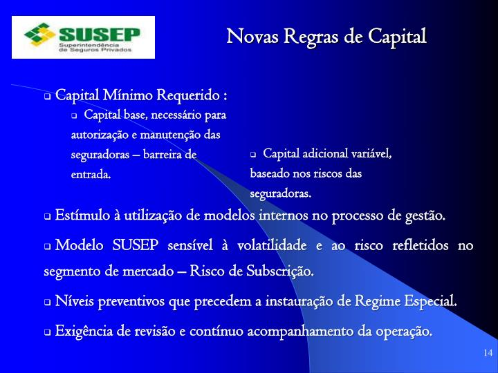 Novas Regras de Capital
