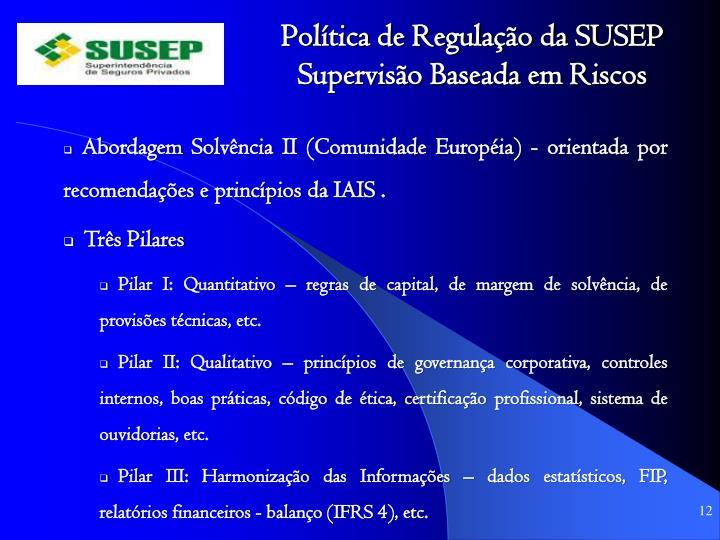 Política de Regulação da SUSEP