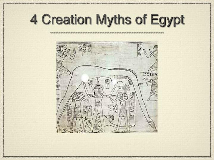 4 Creation Myths of Egypt