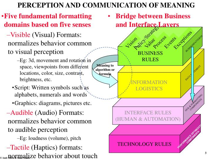 Perception and communication of meaning