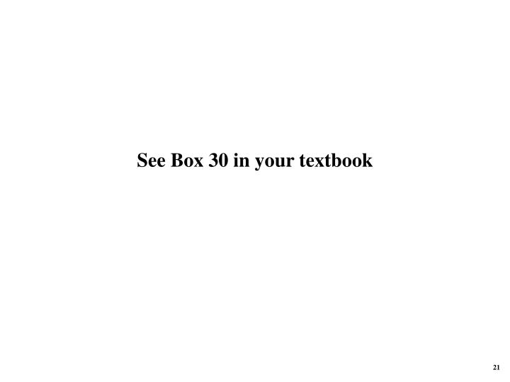 See Box 30 in your textbook