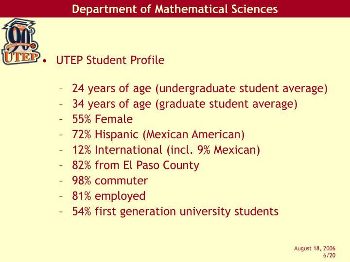 UTEP Student Profile
