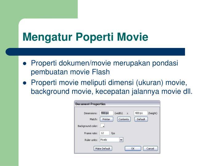 Mengatur Poperti Movie