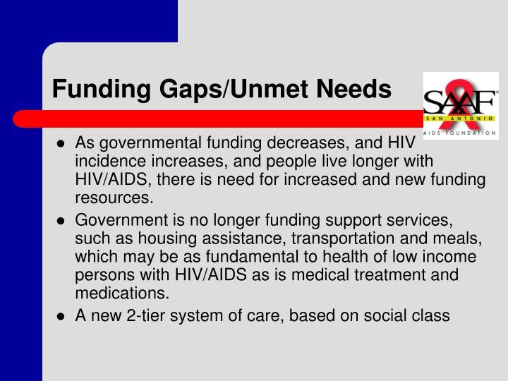 Funding Gaps/Unmet Needs