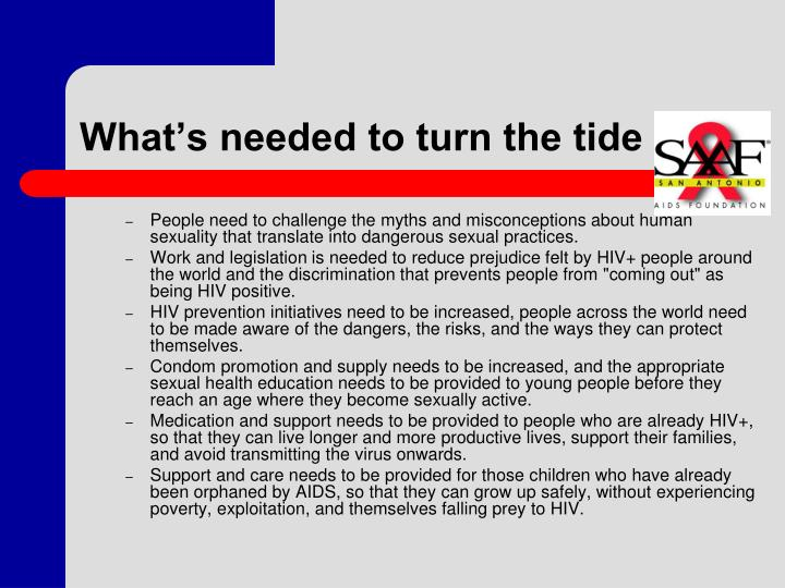 What's needed to turn the tide