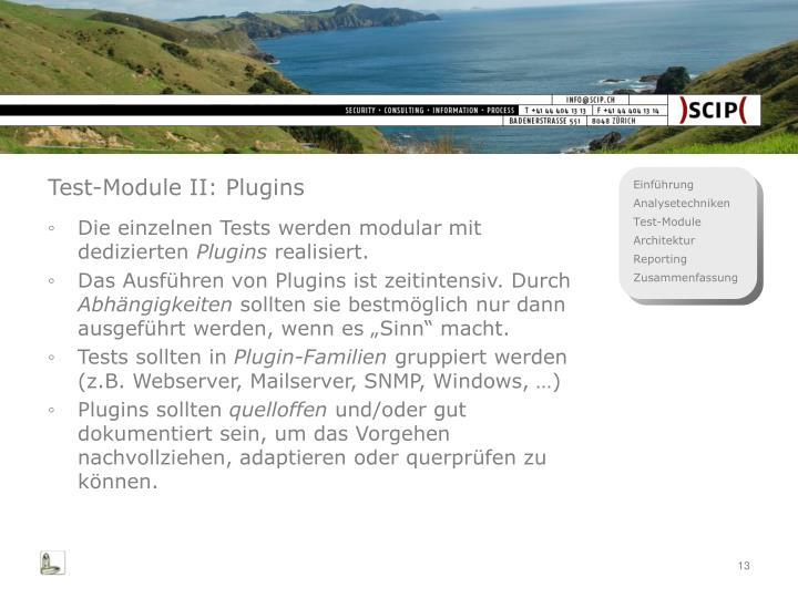 Test-Module II: Plugins