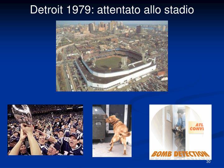 Detroit 1979: attentato allo stadio