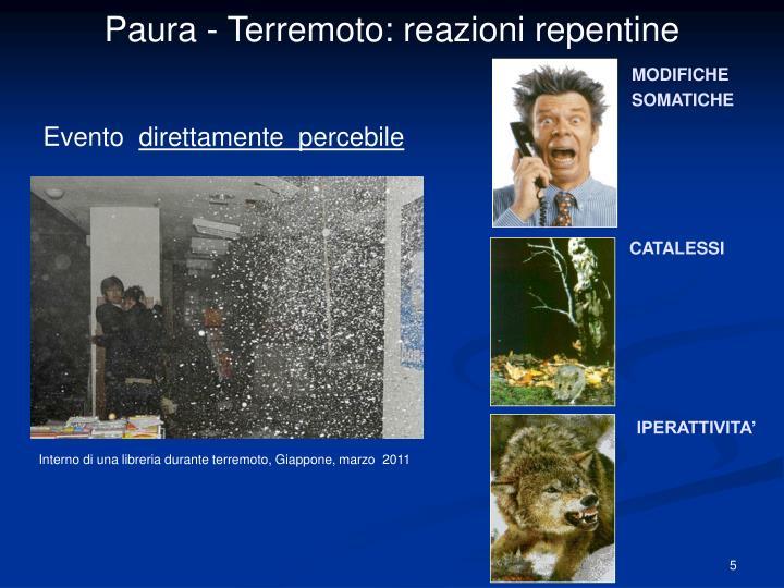 Paura - Terremoto: reazioni repentine