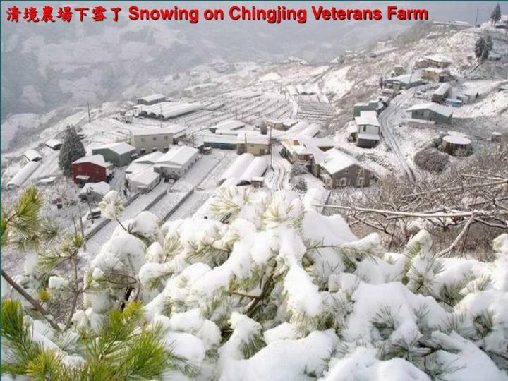 清境農場下雪了