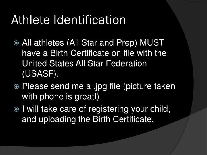 Athlete Identification