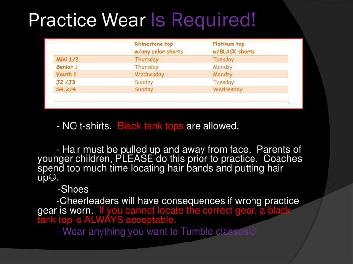 Practice Wear