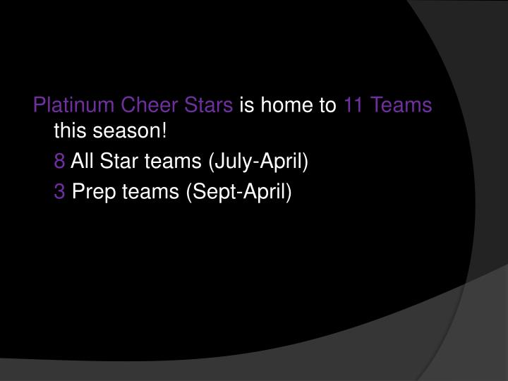 Platinum Cheer Stars