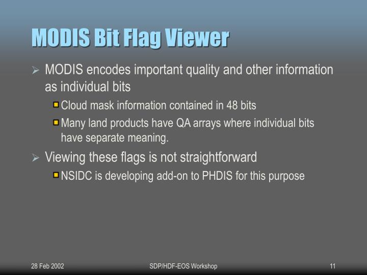 MODIS Bit Flag Viewer