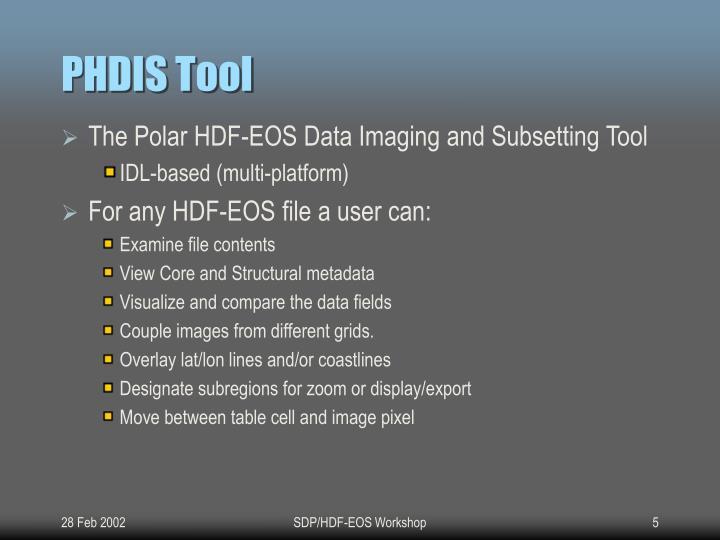 PHDIS Tool