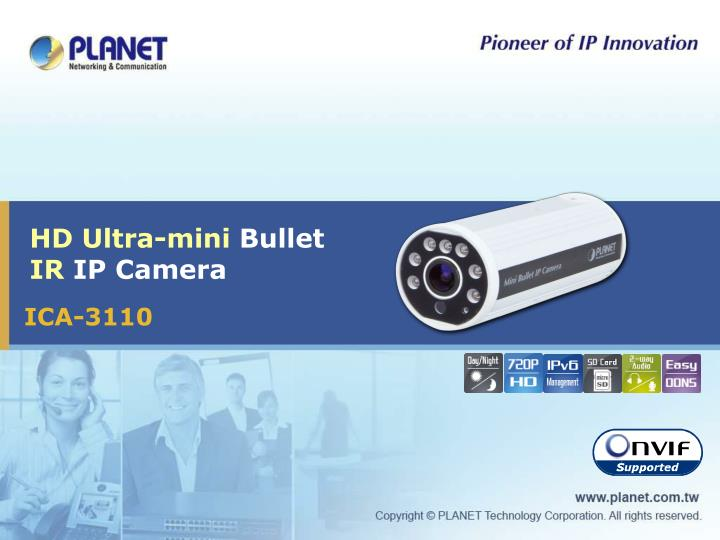 Hd ultra mini bullet ir ip camera