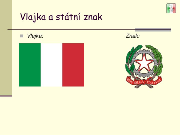 Vlajka a státní znak