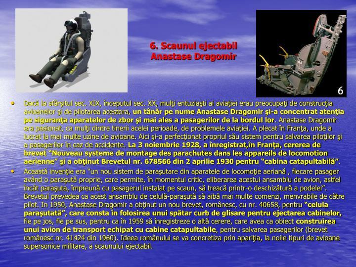 6. Scaunul ejectabil