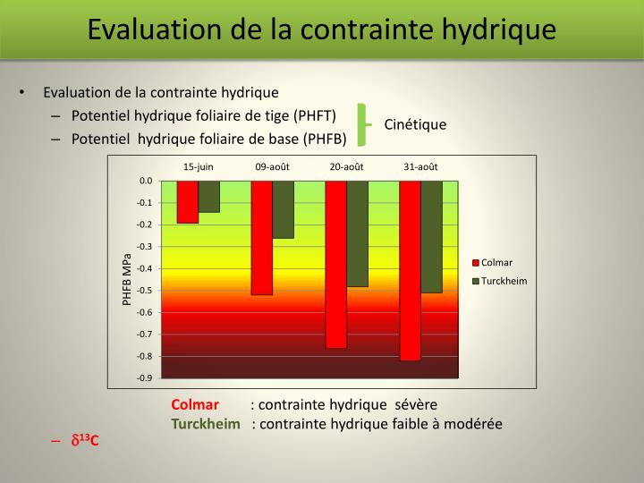 Evaluation de la contrainte hydrique
