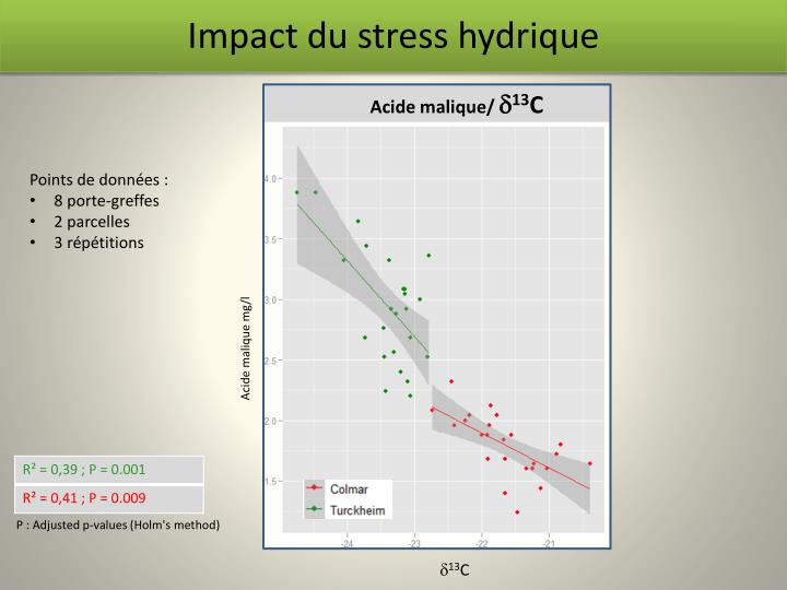 Impact du stress hydrique