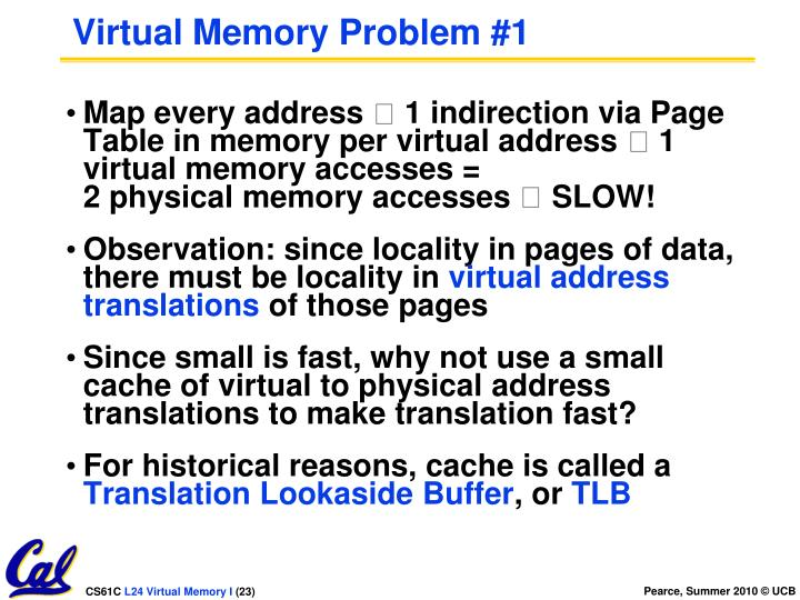 Virtual Memory Problem #1