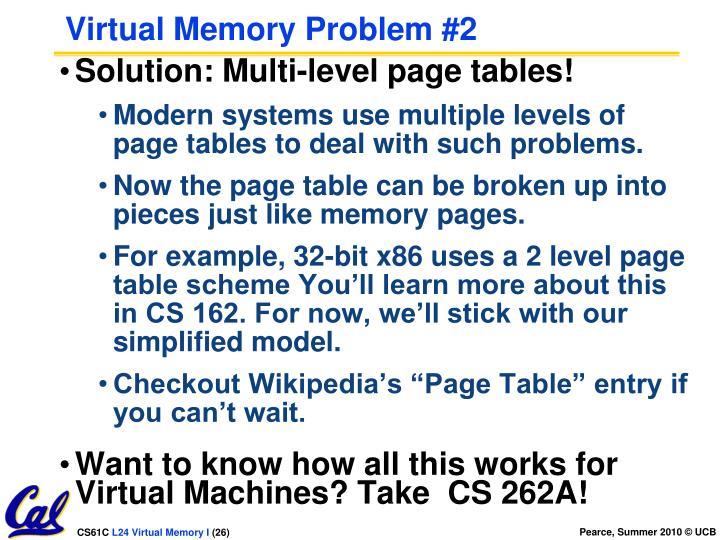 Virtual Memory Problem #2