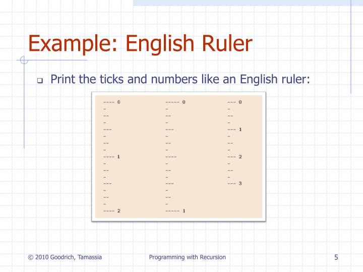 Example: English Ruler