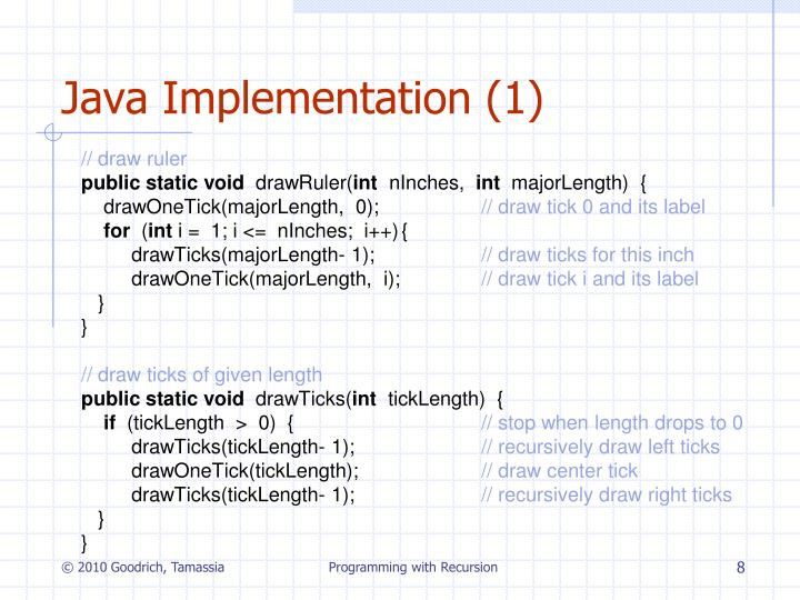 Java Implementation (1)