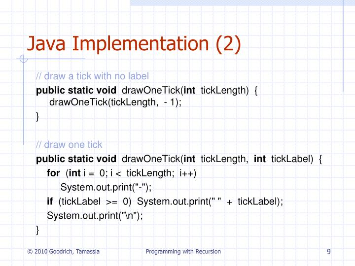 Java Implementation (2)