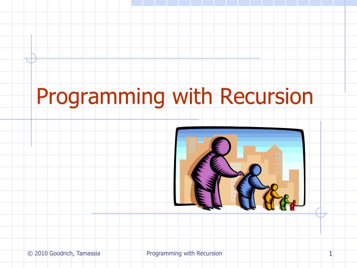 programming with recursion