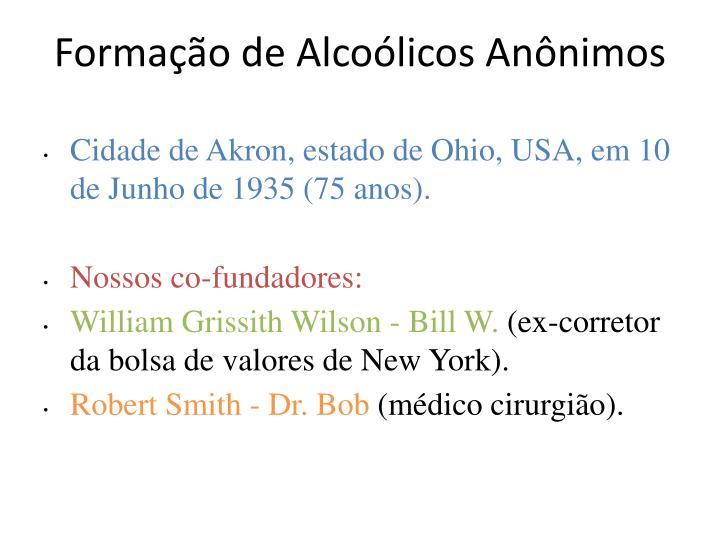 Formação de Alcoólicos Anônimos