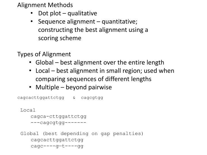 Alignment Methods