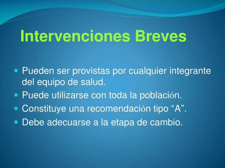 Intervenciones Breves