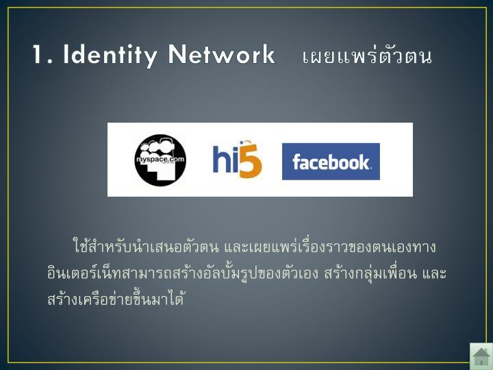 1. Identity Network