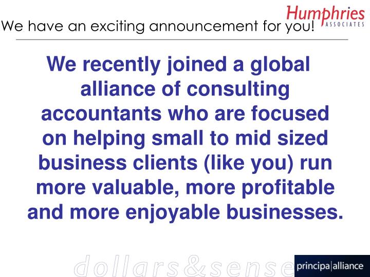 We have an exciting announcement for you!