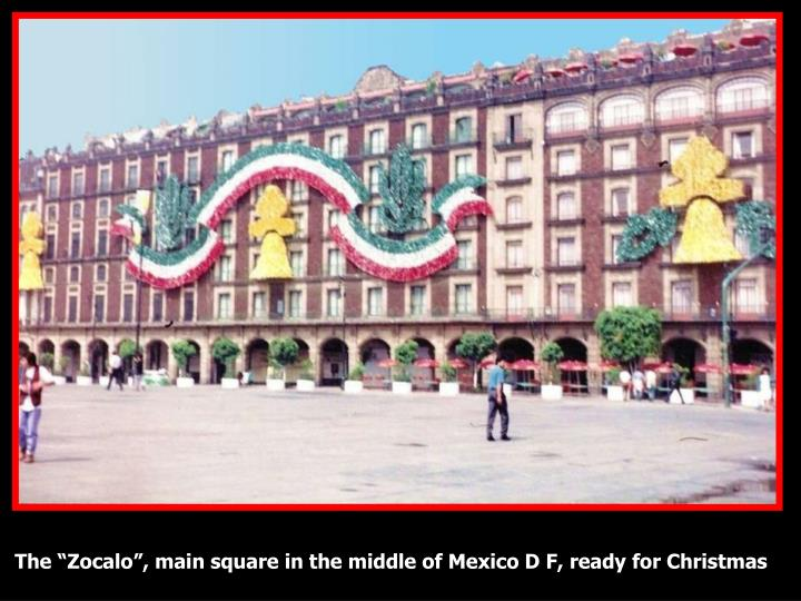 "The ""Zocalo"", main square in the middle of Mexico D F, ready for Christmas"