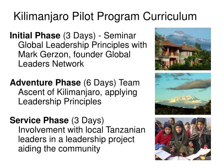 Kilimanjaro Pilot Program Curriculum