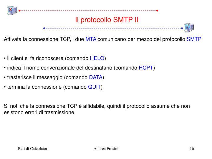 Il protocollo SMTP II