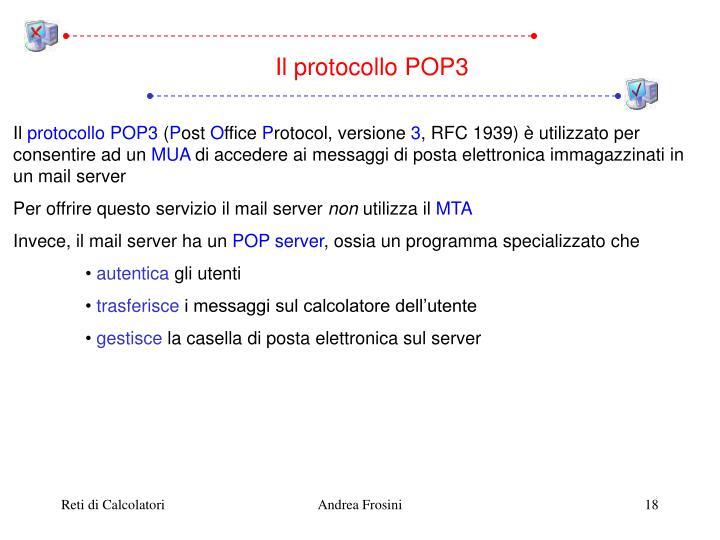 Il protocollo POP3