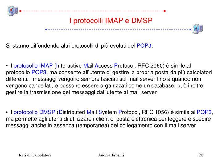 I protocolli IMAP e DMSP
