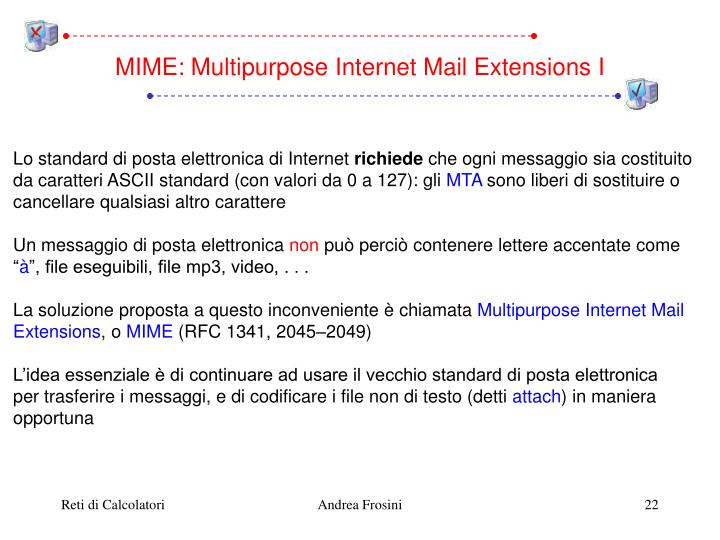 MIME: Multipurpose Internet Mail Extensions I