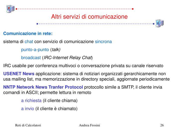 Altri servizi di comunicazione
