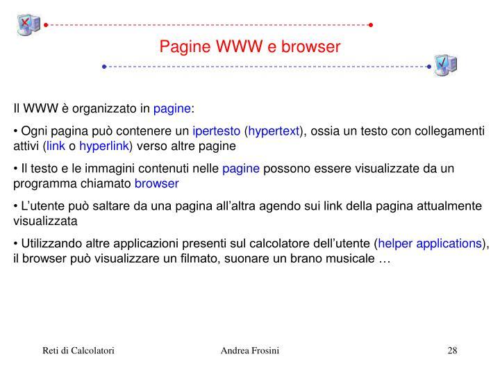 Pagine WWW e browser