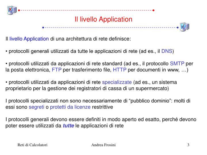 Il livello Application