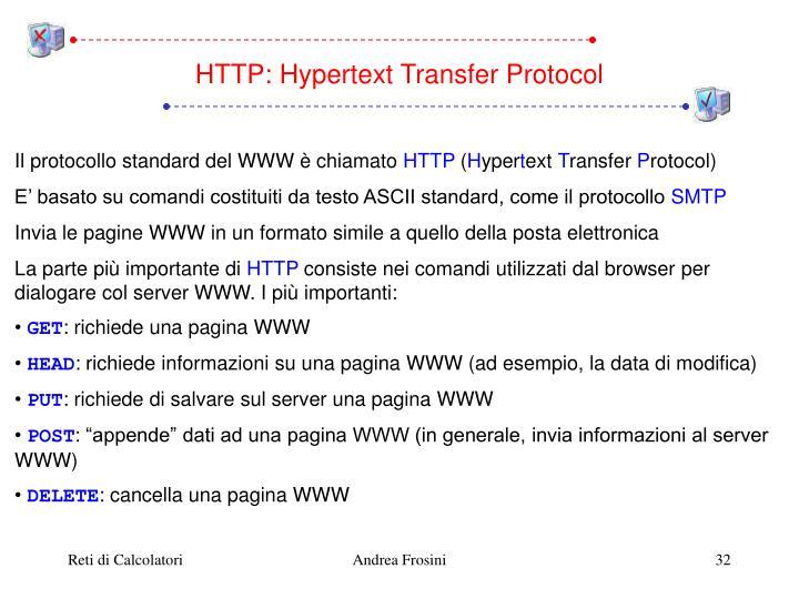 HTTP: Hypertext Transfer Protocol