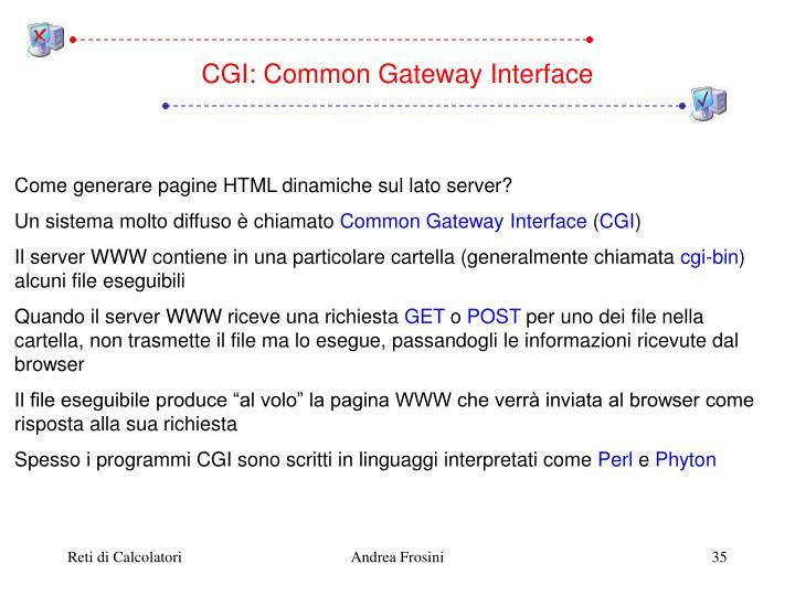 CGI: Common Gateway Interface