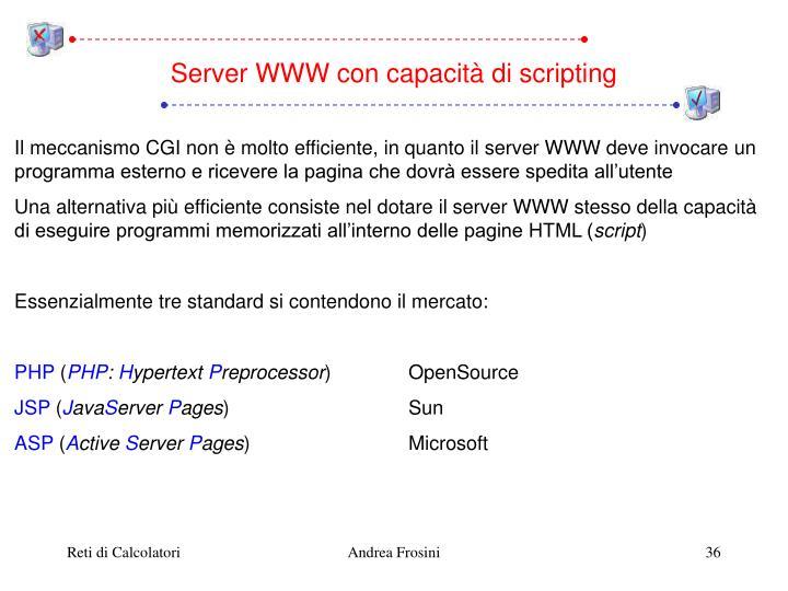 Server WWW con capacità di scripting
